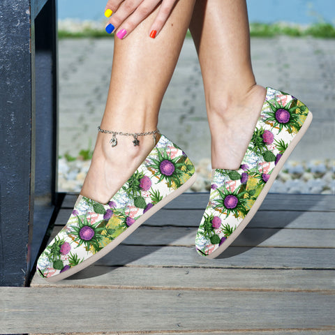Scotland Thistle Pattern 03 - Women's Casual Shoes | HOT SALE