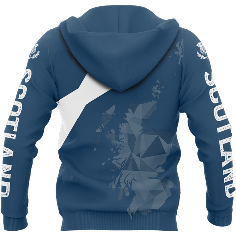 Scotland Map Polygon Style Pullover Hoodie | Clothing | Men and Women