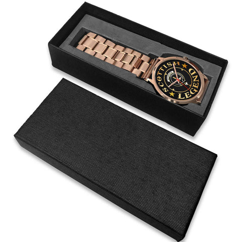 Auchinleck or Affleck Crest Watch - Rose Gold | Accessories Scottish Clans