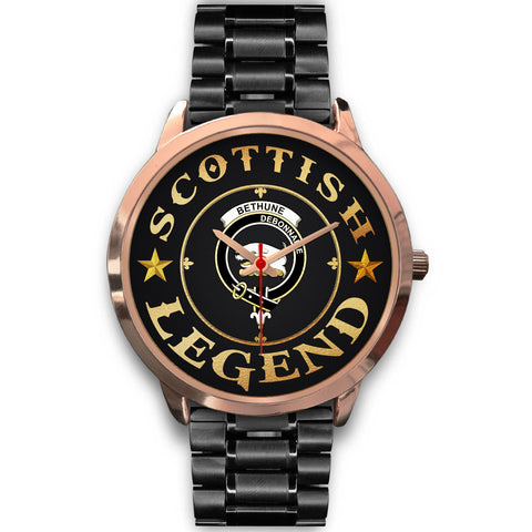 Bethune Crest Watch - Rose Gold | Accessories Scottish Clans