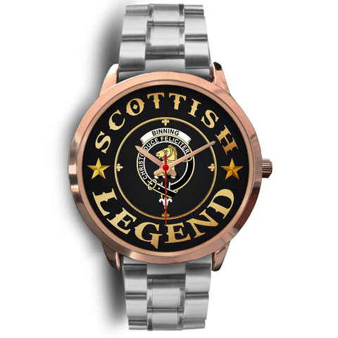 Image of Binning (of Wallifoord) Crest Watch - Rose Gold | Accessories Scottish Clans