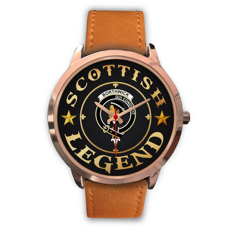 Image of Borthwick Crest Watch - Rose Gold | Accessories Scottish Clans