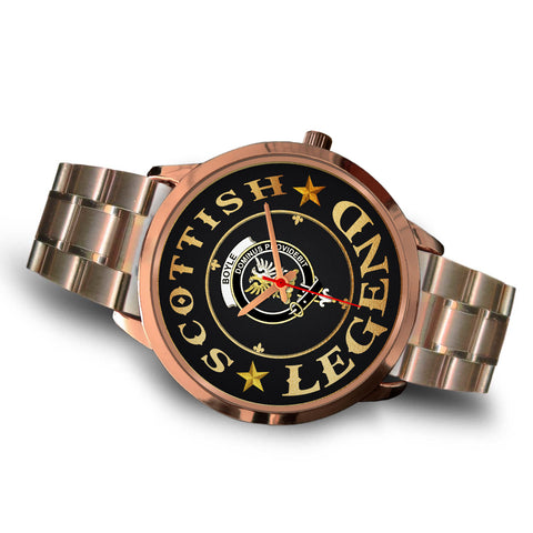 Image of Boyle Crest Watch - Rose Gold | Accessories Scottish Clans