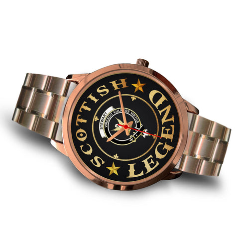 Stewart (High Stewards) Crest Watch - Rose Gold | Accessories Scottish Clans