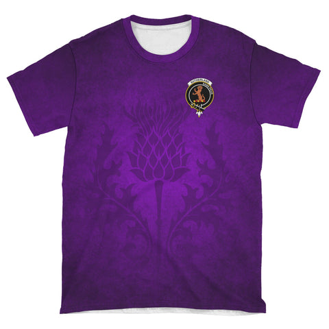 Sutherland I Crest Scotland Purple T-Shirt | Over 300 Clans