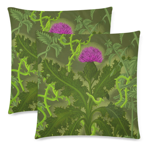 Image of Scotland Pillow Case - Thistle Special Green A24