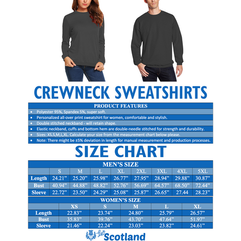 Scottish Thistle - Flower of Scotland Sweatshirt (Original Version)