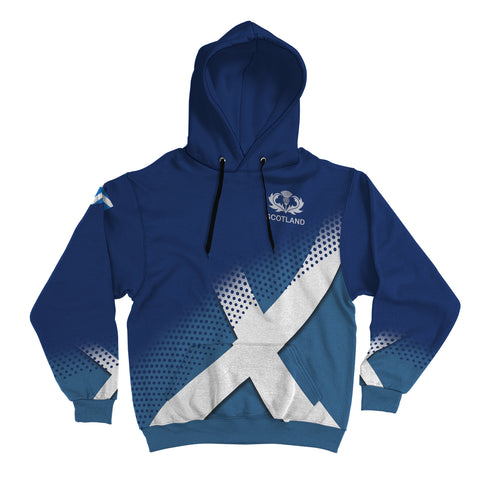Adam Crest Scottish Dots Flag Scotland Hoodie | Over 300 Clans