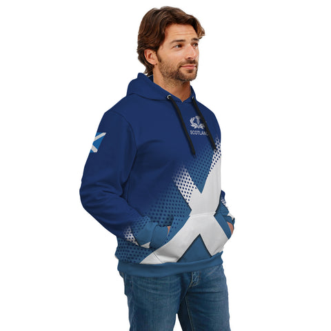 Image of Ainslie Crest Scottish Dots Flag Scotland Hoodie | Over 300 Clans