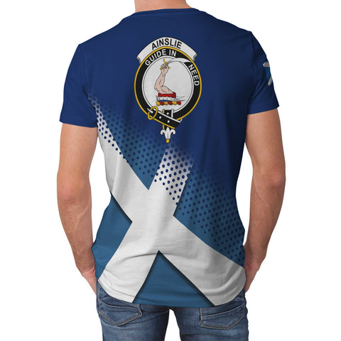 Ainslie Scottish Dots Flag Scotland Sherpa Hoodie | Over 300 Clans