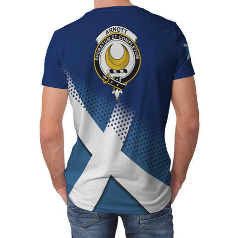 Arnott Scottish Dots Flag Scotland Sherpa Hoodie | Over 300 Clans