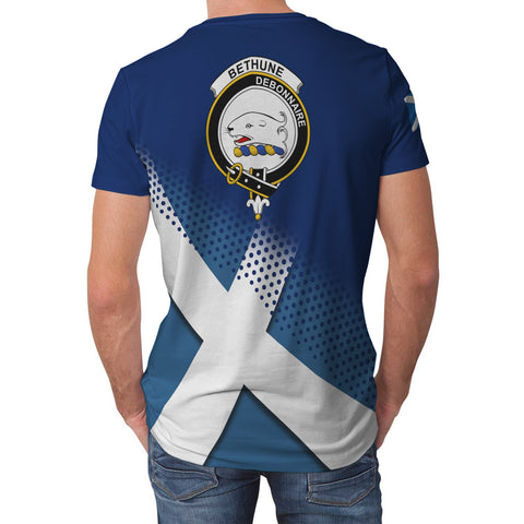 Bethune Scottish Dots Flag Scotland Sherpa Hoodie | Over 300 Clans