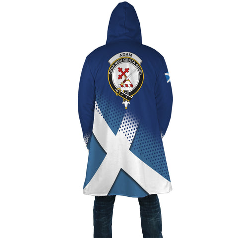 Adam Crest Scottish Dots Flag Scotland Cloak | Over 300 Clans