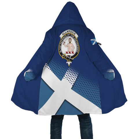 Allardice Crest Scottish Dots Flag Scotland Cloak | Over 300 Clans