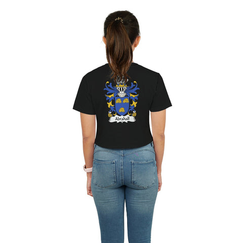 Abrahall Wales Crop T-Shirt Welsh Family Crest | Over 700 Welsh Family Crests