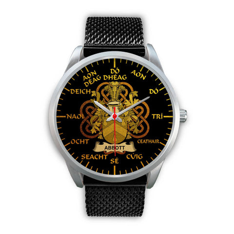 Abbott Ireland Watch Gold Irish Celtic Shamrock (Silver) | Over 1400 Crests | Accessories | High Quality