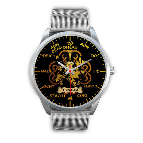 Abraham Ireland Watch Gold Irish Celtic Shamrock (Silver) | Over 1400 Crests | Accessories | High Quality