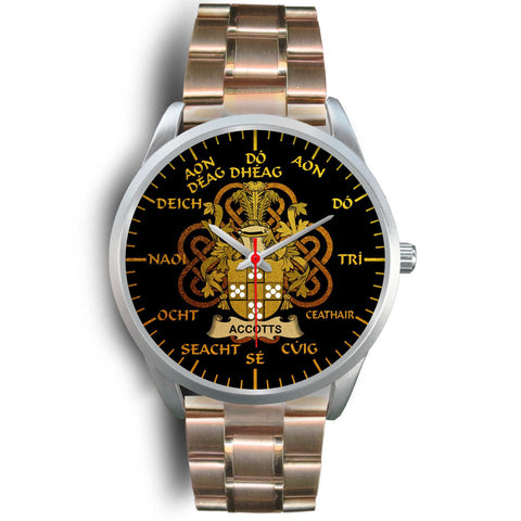 Accotts Ireland Watch Gold Irish Celtic Shamrock (Silver) | Over 1400 Crests | Accessories | High Quality