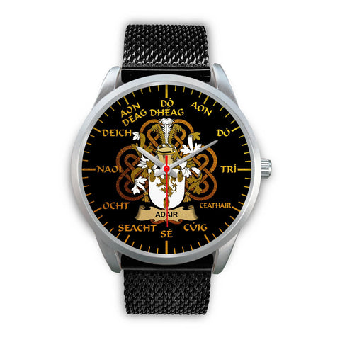 Adair Ireland Watch Gold Irish Celtic Shamrock (Silver) | Over 1400 Crests | Accessories | High Quality