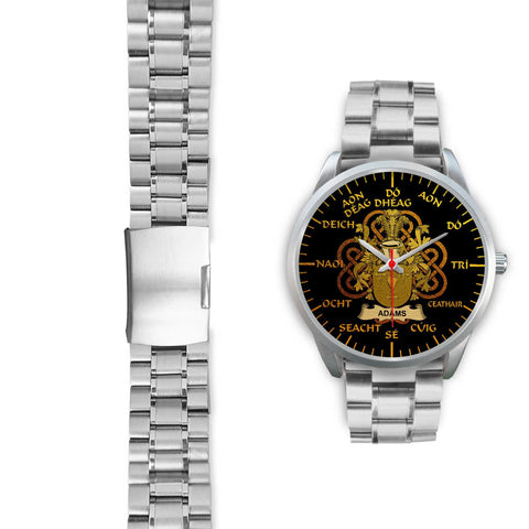 Adams Ireland Watch Gold Irish Celtic Shamrock (Silver) | Over 1400 Crests | Accessories | High Quality