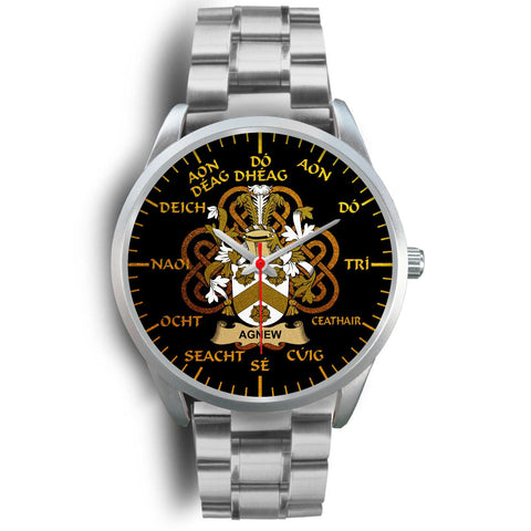 Agnew Ireland Watch Gold Irish Celtic Shamrock (Silver) | Over 1400 Crests | Accessories | High Quality