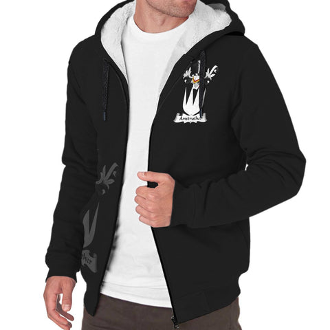 Anstruther Family Crest Sherpa Hoodie (Women's/Men's) | Over 1200 Crests | Clothing | Apparel