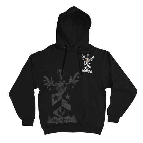 Alexander Family Crest Hoodie (Women's/Men's) | Over 1200 Crests | Clothing | Apparel
