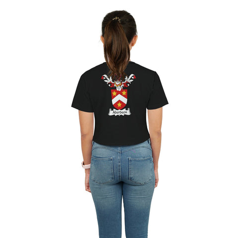 Aberdeen Family Crest Crop T-Shirt | Over 1200 Crests | Clothing | Apparel