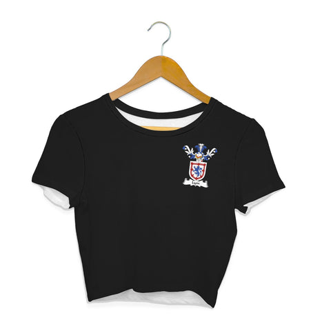 Lyon Family Crest Crop T-Shirt | Over 1200 Crests | Clothing | Apparel
