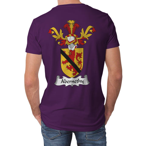Abernethy Crest Scottish Thistle Scotland T-shirt Purple | Over 1000 Clans