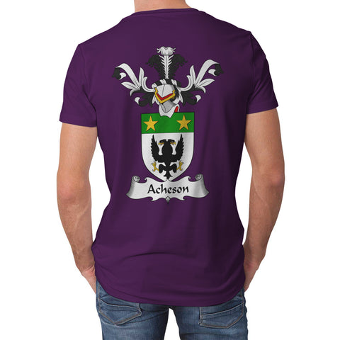 Acheson Crest Scottish Thistle Scotland T-shirt Purple | Over 1000 Clans