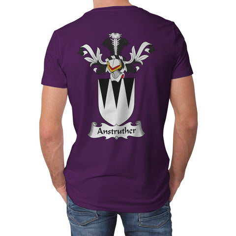 Anstruther Crest Scottish Thistle Scotland T-shirt Purple | Over 1000 Clans