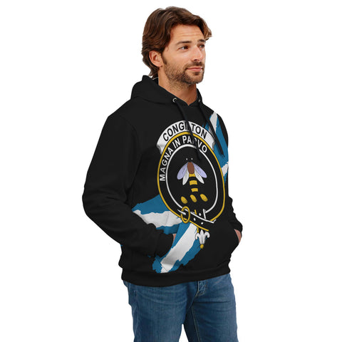 Congilton Crest Scottish Thistle Flag Scotland Hoodie A02