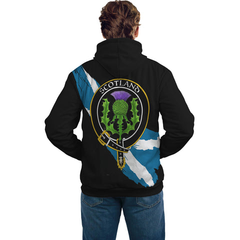 Image of Kinninmont Crest Scottish Thistle Flag Scotland Hoodie A02