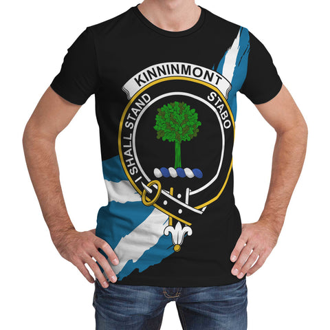 Kinninmont Crest Scottish Thistle Flag Scotland T-shirt | Over 300 Clans