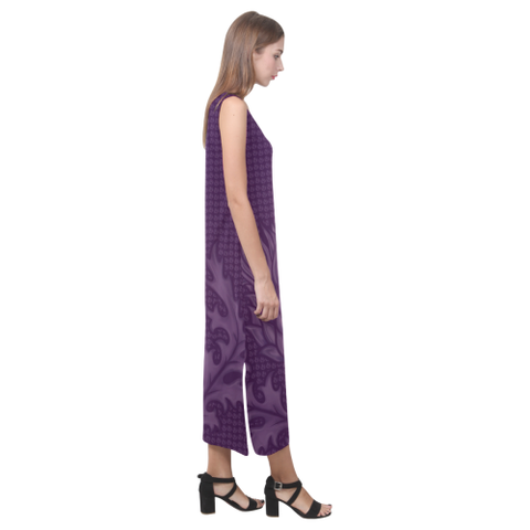 Scotland Dress - Purple Thistle Phaedra Sleeveless Open Fork Long Dress | HOT Sale