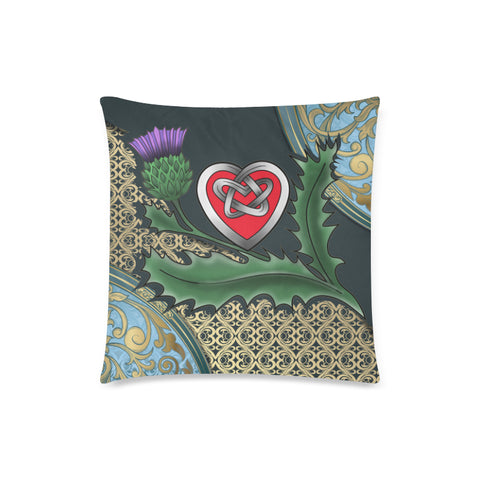 Image of Scotland Pillow Case - Scottish Heart Thistle Celtic A24