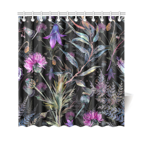 Dark Thistle - Scotland Shower Curtain | HOT SALE