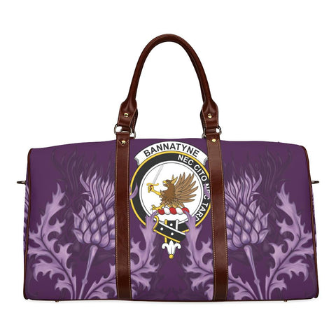 Image of Bannatyne Crest Scottish Thistle Scotland Travel Bag | Over 300 Clans