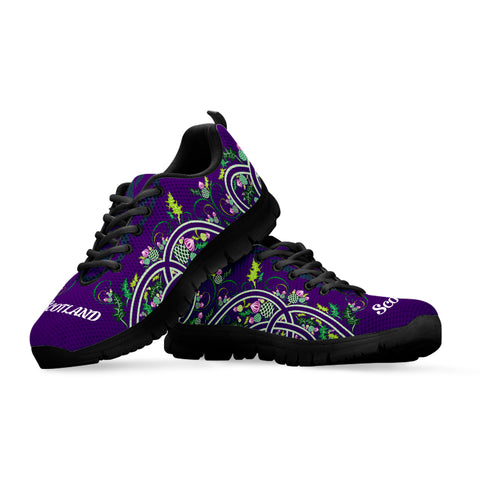 Thistle Flower Circle - Scotland Sneakers | Love Scotland