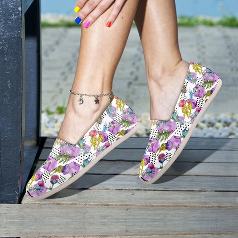 Scotland Thistle Pattern 04 - Women's Casual Shoes | HOT SALE