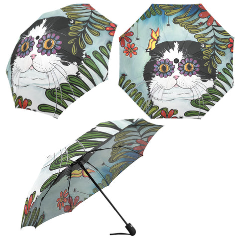 Hiding Scottish Fold Cat Umbrella