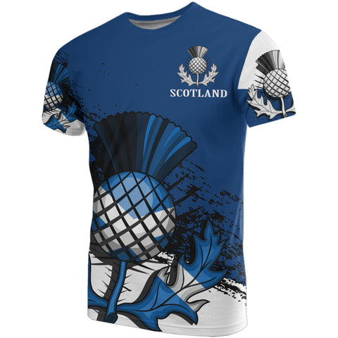 Image of Custom - Scottish Thistle Blue Edition All Over Print T-Shirt
