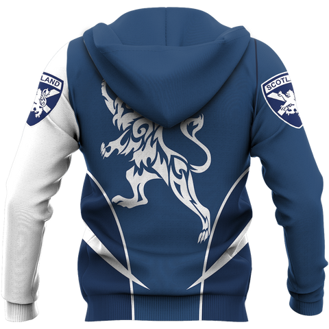 Scotland Hoodie, Scottish Rampant Lion All Over Print Hoodie