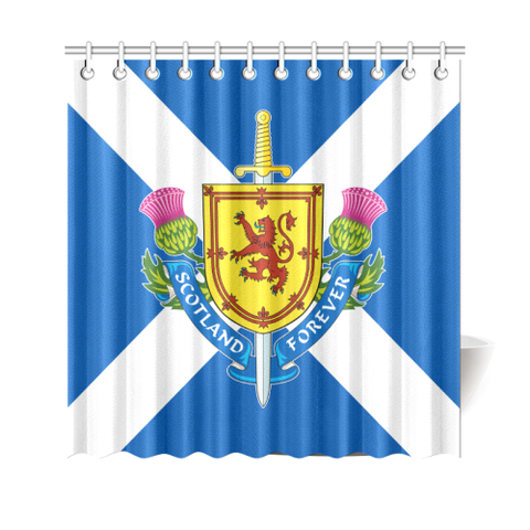 Scotland Shower Curtain - Lion Flag | Special Custom Design