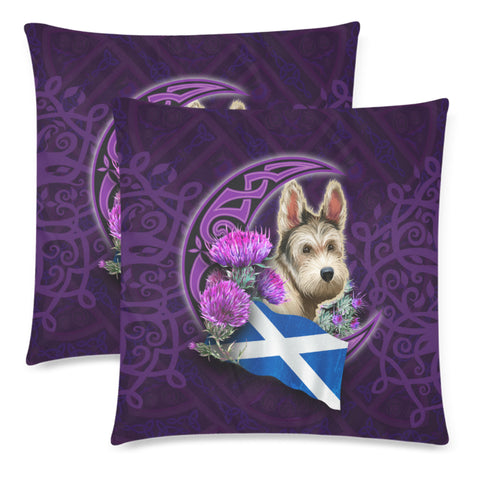Scotland Zippered Pillow Cases Celtic Tree Of Life - Scottish Terrier And Thistle Moon Celtic