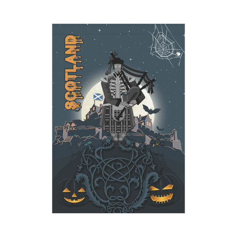 Image of Scottish Piper Halloween Garden Flag | Special Custom Design