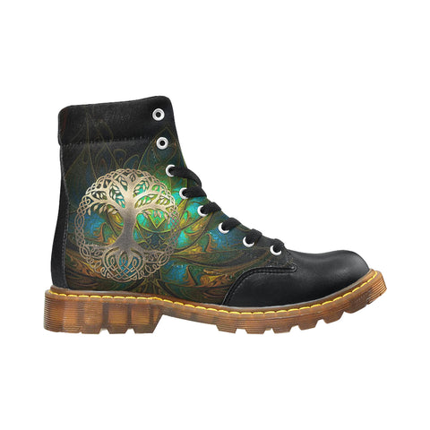 Image of Celtic Apache Boots - Luxury Golden Celtic Tree | HOT Sale