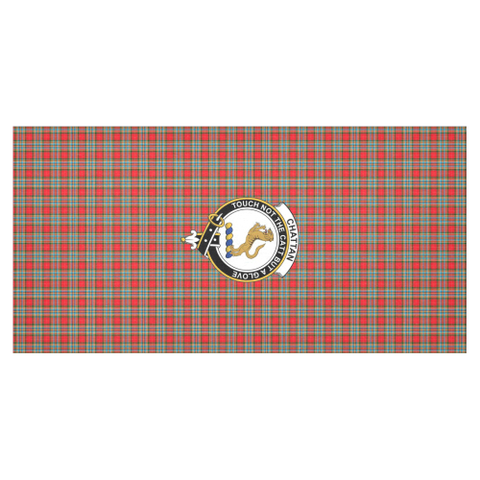 Image of Chattan Crest Tartan Tablecloth | Home Decor