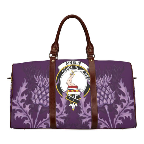 Ainslie Crest Scottish Thistle Scotland Travel Bag | Over 300 Clans